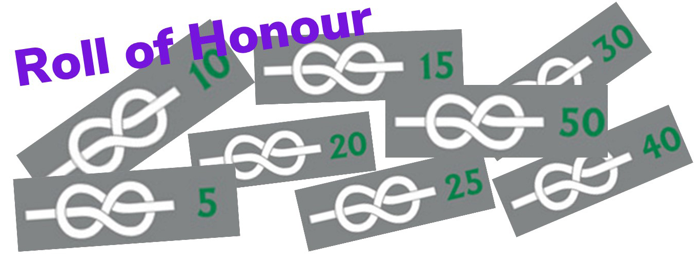 785 years of service to Scouts